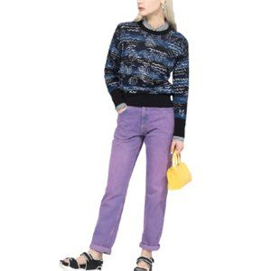 NWT Kenzo All Over Mermaids Jumper Sweater in Blue